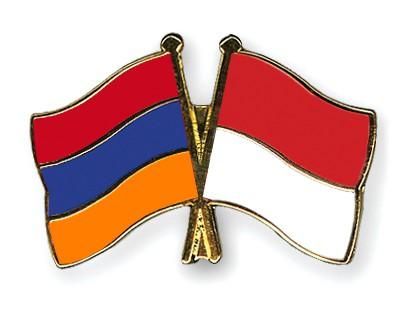 Crossed Flag Pins Armenia-Indonesia