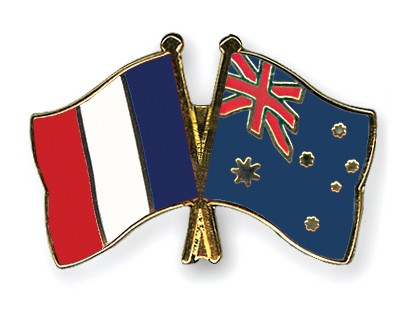 Special Offer Crossed Flag Pins France-Australia