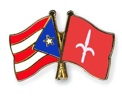 Crossed Flag Pins Puerto-Rico-Trieste