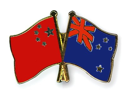 Crossed Flag Pins China-New-Zealand