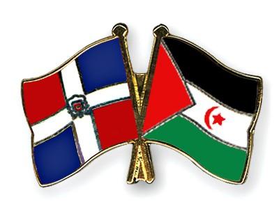 Crossed Flag Pins Dominican-Republic-Western-Sahara