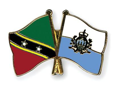 Crossed Flag Pins Saint-Kitts-and-Nevis-San-Marino