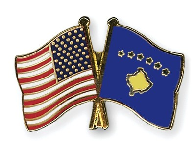 Special Offer Crossed Flag Pins USA-Kosovo