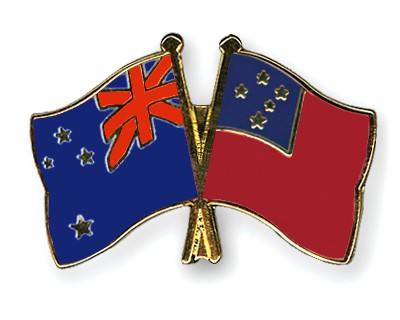 Crossed Flag Pins New-Zealand-Samoa