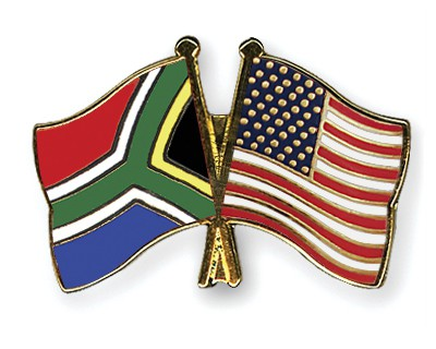 Crossed Flag Pins South-Africa-USA