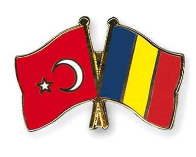 Crossed Flag Pins Turkey-Romania
