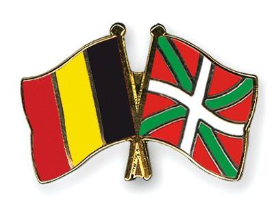 Crossed Flag Pins Belgium-Basque-country