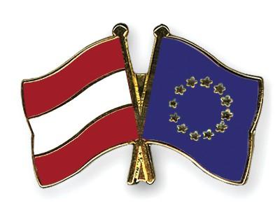 Special Offer Crossed Flag Pins Austria-European-Union