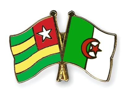 Crossed Flag Pins Togo-Algeria