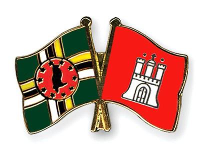 Crossed Flag Pins Dominica-Hamburg