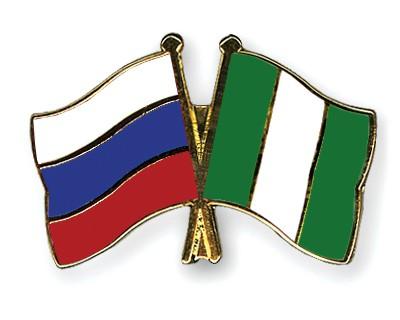 Crossed Flag Pins Russia-Nigeria