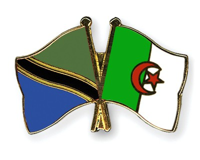 Crossed Flag Pins Tanzania-Algeria