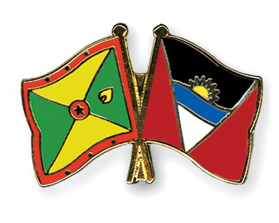 Crossed Flag Pins Grenada-Antigua-and-Barbuda