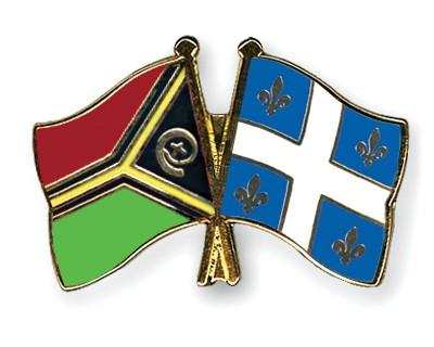 Crossed Flag Pins Vanuatu-Quebec