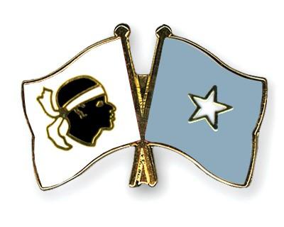 Crossed Flag Pins Corsica-Somalia