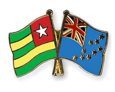 Crossed Flag Pins Togo-Tuvalu
