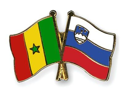 Crossed Flag Pins Senegal-Slovenia
