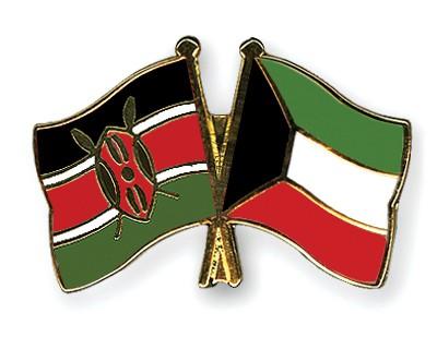 Crossed Flag Pins Kenya-Kuwait