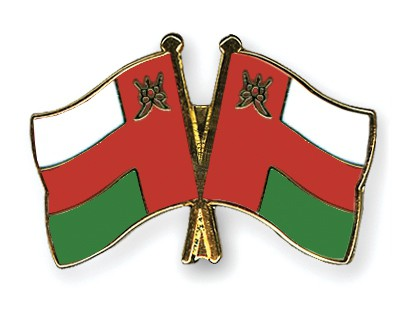 Crossed Flag Pins Oman-Oman
