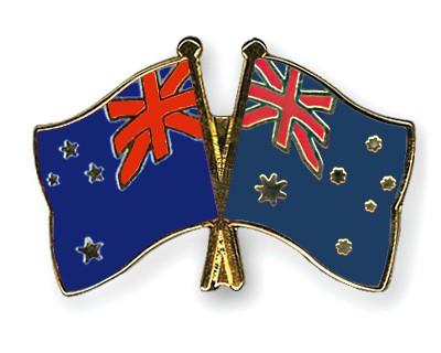 Crossed Flag Pins New-Zealand-Australia