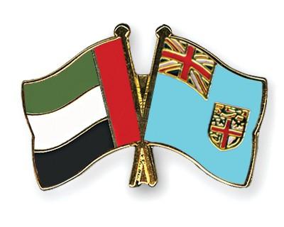 Crossed Flag Pins United-Arab-Emirates-Fiji