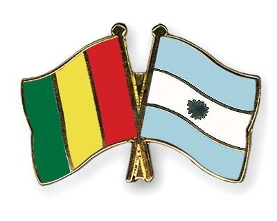 Crossed Flag Pins Guinea-Argentina