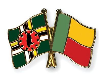 Crossed Flag Pins Dominica-Benin