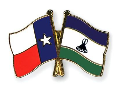 Crossed Flag Pins Texas-Lesotho