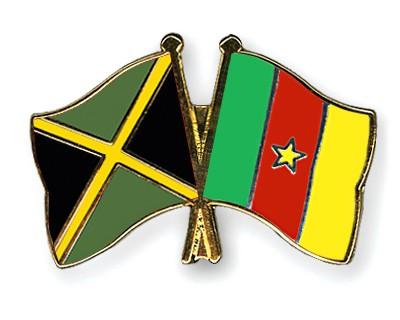Crossed Flag Pins Jamaica-Cameroon