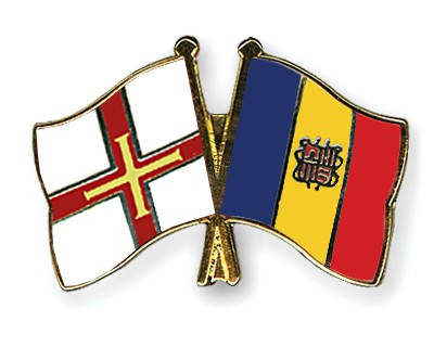 Crossed Flag Pins Guernsey-Andorra