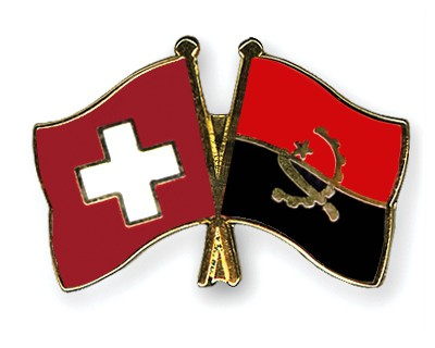 Crossed Flag Pins Switzerland-Angola
