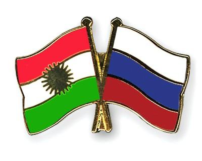 Crossed Flag Pins Kurdistan-Russia