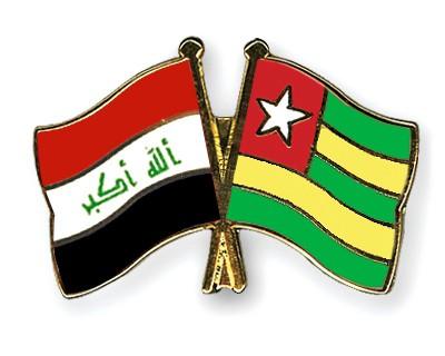 Crossed Flag Pins Iraq-Togo