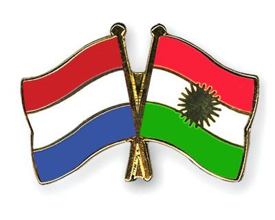 Crossed Flag Pins Netherlands-Kurdistan