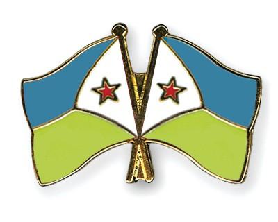 Crossed Flag Pins Djibouti-Djibouti
