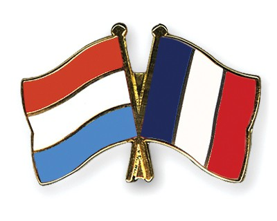 Special Offer Crossed Flag Pins Luxembourg-France