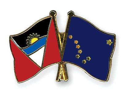 Crossed Flag Pins Antigua-and-Barbuda-Alaska