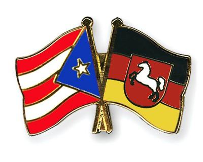 Crossed Flag Pins Puerto-Rico-Lower-Saxony
