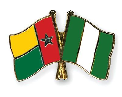 Crossed Flag Pins Guinea-Bissau-Nigeria