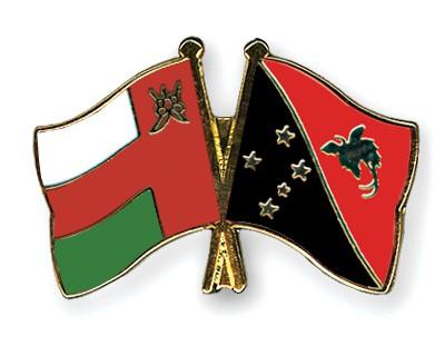 Crossed Flag Pins Oman-Papua-New-Guinea