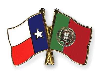 Crossed Flag Pins Texas-Portugal