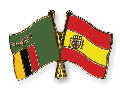 Special Offer Crossed Flag PinsZambia-Spain