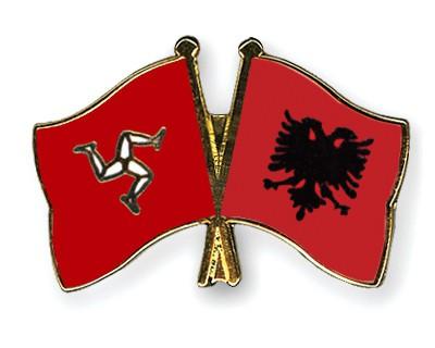 Crossed Flag Pins The-Isle-of-Man-Albania