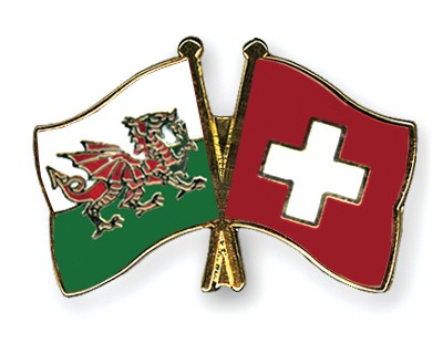 Special Offer Crossed Flag Pins Wales-Switzerland