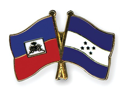 Crossed Flag Pins Haiti-Honduras