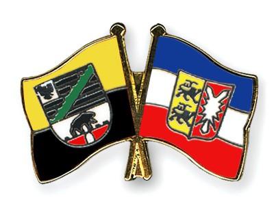 Crossed Flag Pins Saxony-Anhalt-Schleswig-Holstein