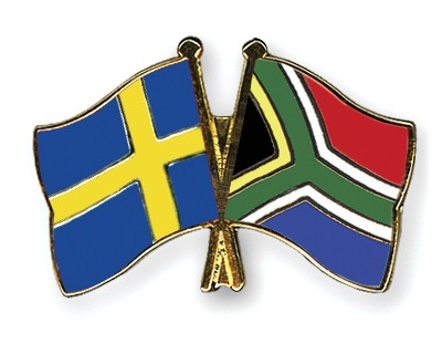 Special Offer Crossed Flag Pins Sweden-South-Africa