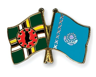 Crossed Flag Pins Dominica-Kazakhstan