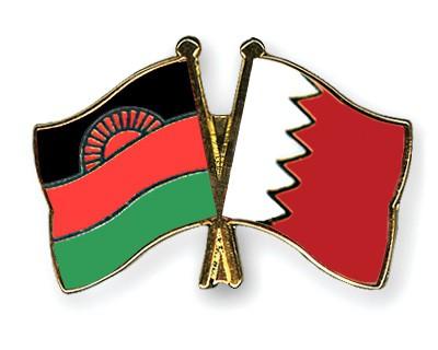 Crossed Flag Pins Malawi-Bahrain