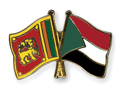 Crossed Flag Pins Sri-Lanka-Sudan